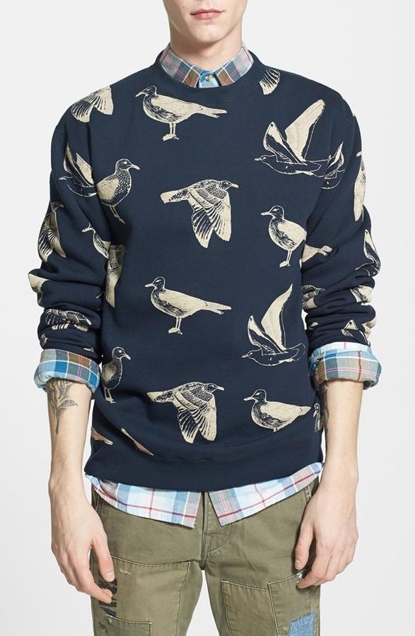 7e5196028931 ... Obey Seagull Print Crewneck Sweatshirt ...