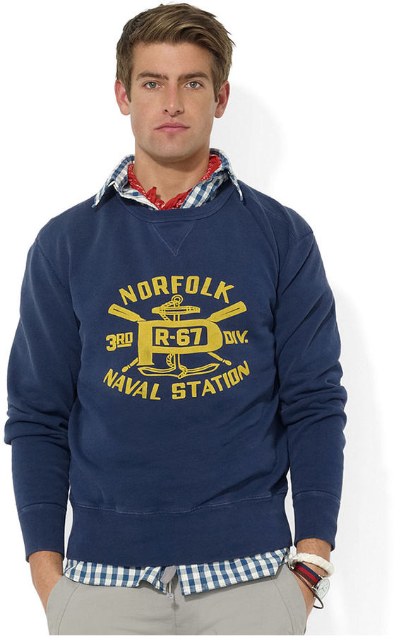 Polo Ralph Lauren Sweatshirt Naval Station Fleece Crewneck ...