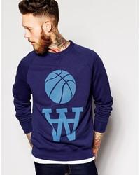 Wood Wood Sweatshirt With Basketball Print