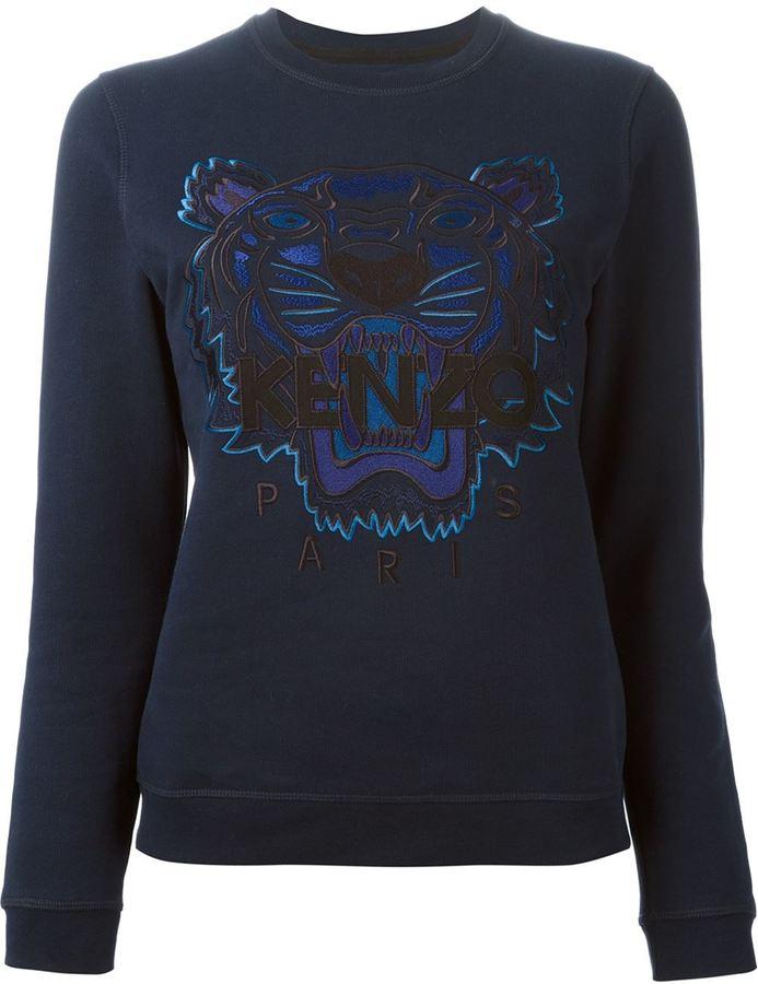 81469ba3f794 ... Kenzo Tiger Sweatshirt Navy ...