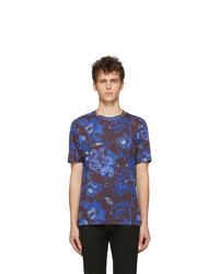 Paul Smith Blue And Purple Goliath Floral T Shirt