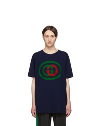 Gucci Blue Interlocking G T Shirt