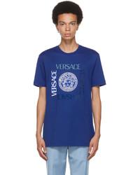 Versace Blue Medusa T Shirt
