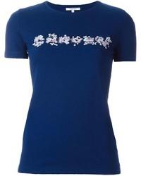 Carven Floral Logo Print T Shirt