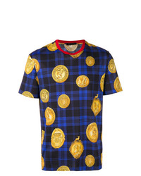 Versace Checked Print T Shirt