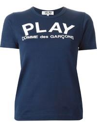 Comme des garcons comme des garons play logo print t shirt medium 434759