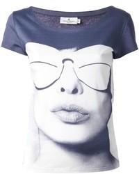 Courreges Courrges Glasses Print T Shirt