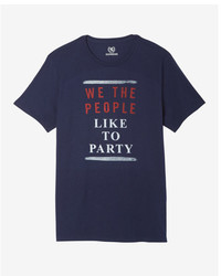 Express Fourth Of July Like To Party Crew Neck Graphic Tee