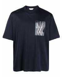 Z Zegna Graphic Logo Print Cotton T Shirt