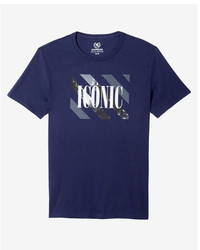 Express Iconic Crew Neck Graphic Tee