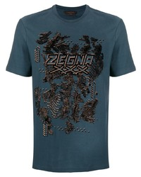 Ermenegildo Zegna Logo Round Neck T Shirt