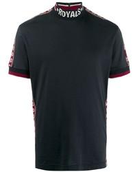 Dolce & Gabbana Mock Neck Logo T Shirt