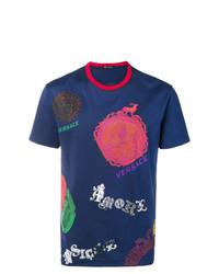 Versace Multiple Brand Motifs T Shirt