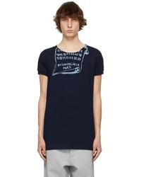 Maison Margiela Navy Blue Graphic T Shirt