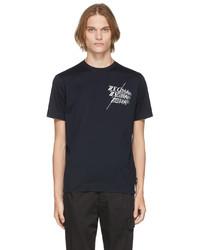 Z Zegna Navy Cotton Logo T Shirt