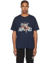 Amiri Navy Graphic Cherub T Shirt