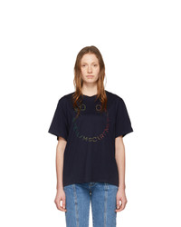 Stella McCartney Navy Happy Logo T Shirt