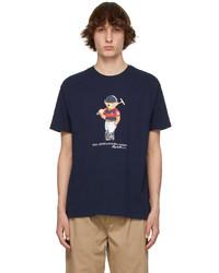 Polo Ralph Lauren Navy Polo Bear T Shirt