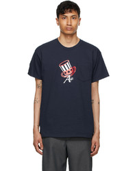 AïE Navy Printed Pocket T Shirt