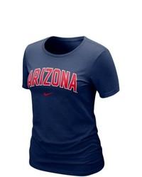 Nike Arizona Wildcats Ladies Arch Crew T Shirt Navy Blue