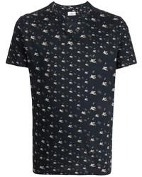 Etro Pegaso Print Cotton T Shirt