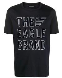 Emporio Armani Script Print T Shirt