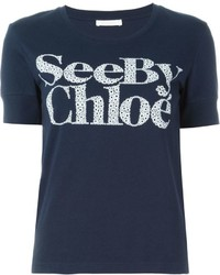 See by Chloe See By Chlo Logo Print T Shirt