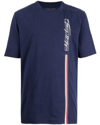 Tommy Hilfiger Signature Logo Print Cotton T Shirt
