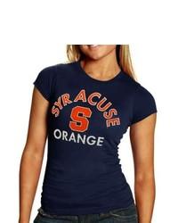 Soffe Syracuse Orange Ladies Team Crew Neck T Shirt Navy Blue