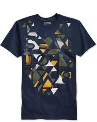 Sean John Visual Glow Graphic Print T Shirt
