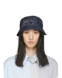 Maison Michel Navy Denim Effect Malo Bucket Hat
