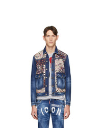 DSQUARED2 Blue Denim Dan Medium Wash Jacket