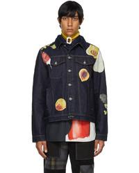 JW Anderson Indigo Veggie Fruit Trucker Jacket
