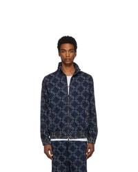 Valentino Navy Garavani Denim Vltn Grid Jacket