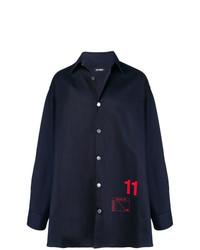 Raf Simons 11 Print Cotton Blend Denim Shirt