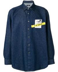 Raf Simons Chest Patch Denim Shirt