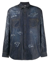 Philipp Plein Marlon Denim Shirt