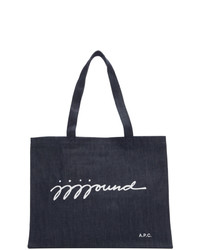 A.P.C. Indigo Jjjjound Edition Shopping Tote