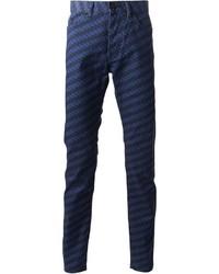 Kenzo Patterned Slim Trousers