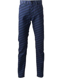 Patterned slim trousers medium 169856