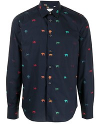 Paul Smith Graphic Print Button Down Shirt