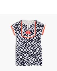 J.Crew Girls Batik Print Terry Cloth Dress