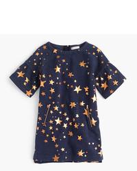 J.Crew Girls Constellation Print Sweatshirt Dress