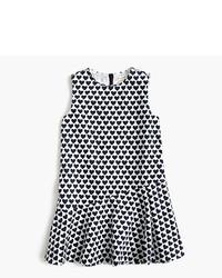 J.Crew Girls Heart Print Ruffle Hem Dress