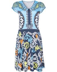 Mary Katrantzou Printed V Neck Dress
