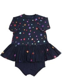 Stella McCartney Stars Print Cotton Dress Diaper Cover