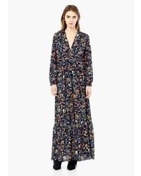 Mango Outlet Floral Print Long Dress