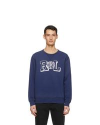 Polo Ralph Lauren Blue Fleece Vintage Graphic Sweatshirt