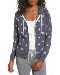 Adrian print zip hoodie medium 5035352