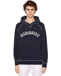DSQUARED2 Hooded Printed Cotton Jersey Sweatshirt